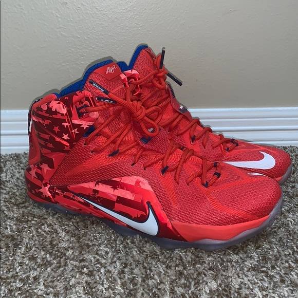 """big sale ff277 6d94a Nike Lebron 12 """"Independence Day"""""""